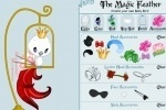 Magic Feather Coloring & Dressup game free online