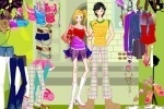 Cartoon Couple Dress Up game free online