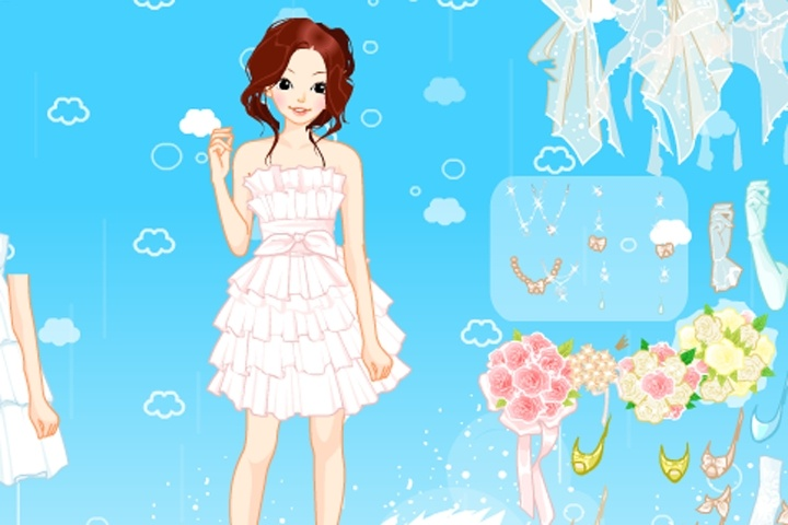 Heavenly Wedding Dress Up Game