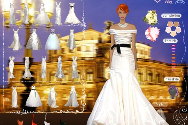 Vera Wang Wedding Dress Up Game