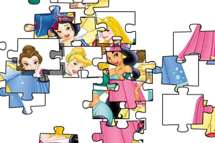 Disney Princesses Puzzle Jigsaw Game