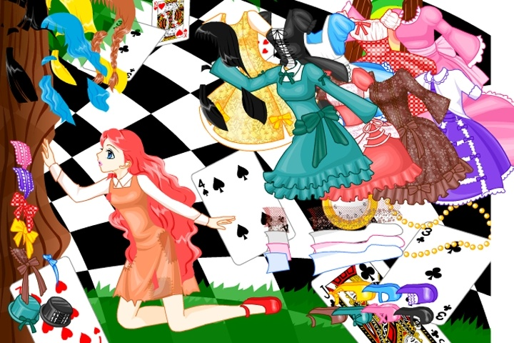 Alice in Wonderland Style Dress Up Game