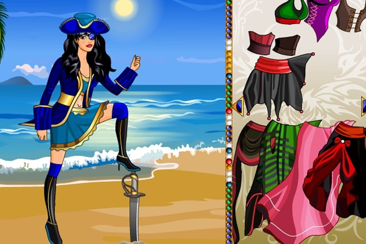 Caribbean Pirate Dress Up Game