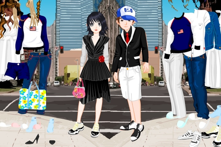 City couple Dress Up Game