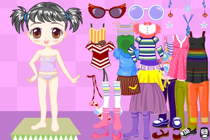 Adorable Cute Doll Dress Up Game