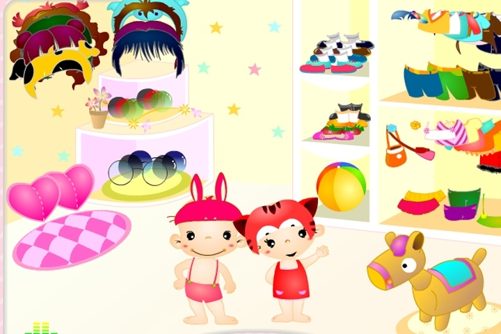 Baby Couple Dress Up Game