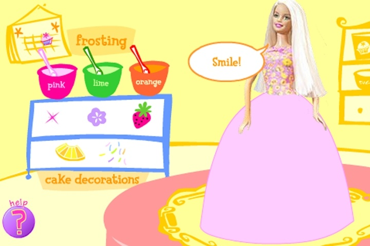 Barbie Cake Decoration Game