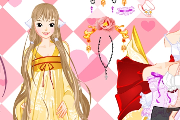 Barbie Type Doll Dressup Game