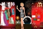 New Year's Fireworks Dress-Up game free online