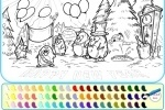 Penguin Happy New Year Coloring game free online