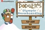 Dodger's Olympic Snowboarding game free online
