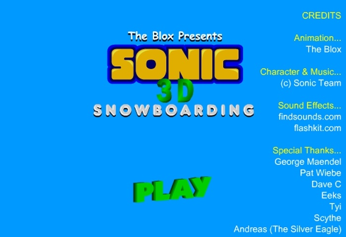 Sonic 3D Snowboard Game