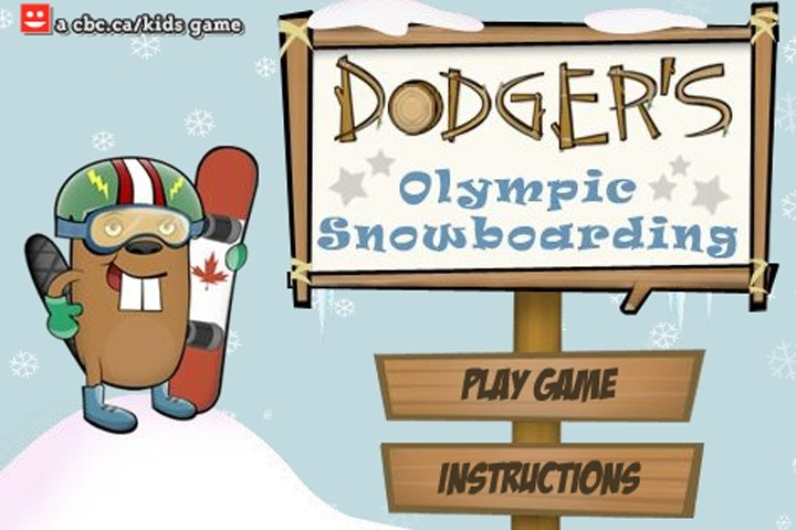 Dodger's Olympic Snowboarding Game