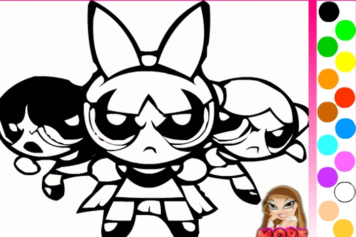 Powerpuff Girls Coloring Game - Play Free Coloring games ...