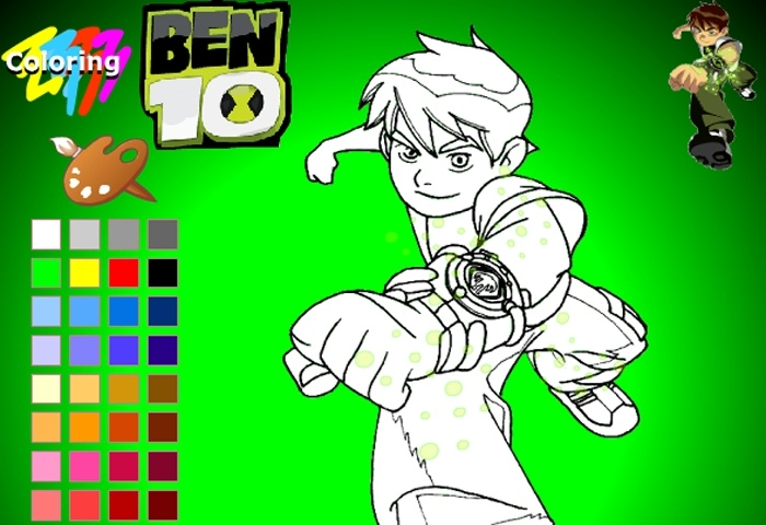 Ben 10 Coloring Game - Play Free Coloring games - Games Loon