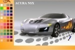 Acura Nsx Car Coloring game free online