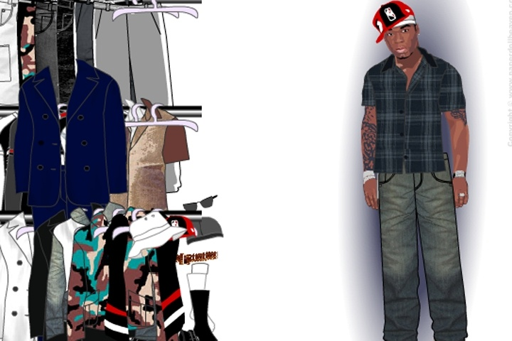 50 Cent Dress Up Game