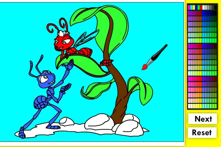 A Bugs Life Online Coloring Game