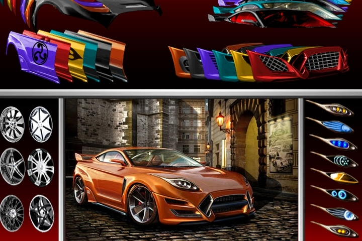 Sports Car Designer Game