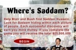 Where's Saddam game free online