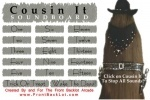 Adam's Family Cousin It Soundboard game free online