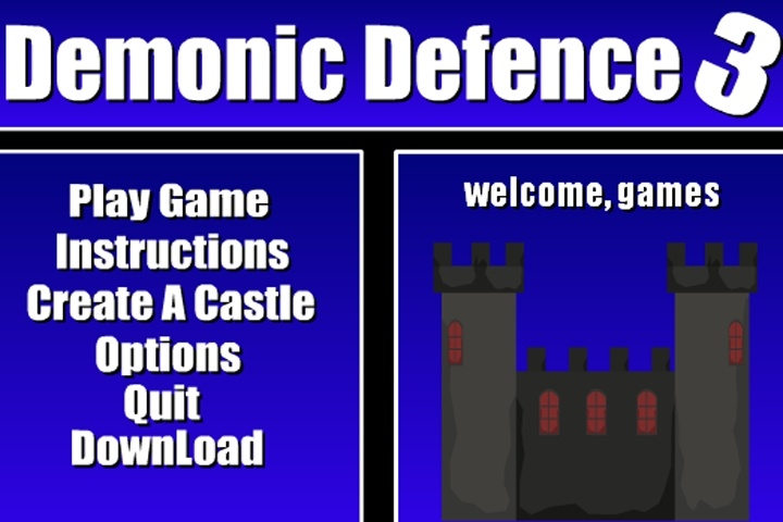 Demonic Defence 3 Game