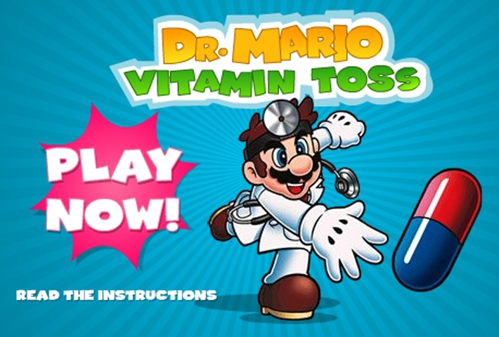 Dr. Mario Vitamin Toss Game
