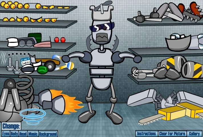 Customize Your Own Car Online >> Build A Robot Game - Make Your Own games - Games Loon
