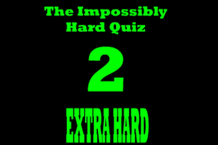 Impossibly Hard Quiz Game