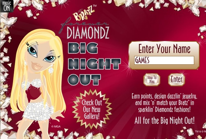 Bratz Diamondz Big Night Out Game
