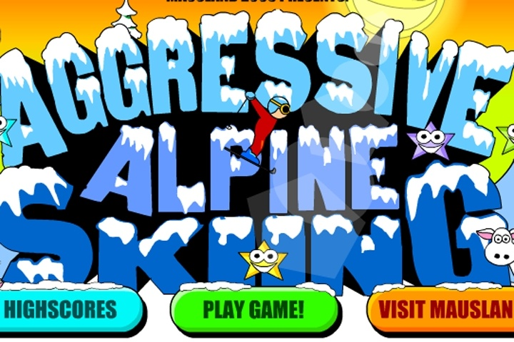 Aggressive Alpine Skiing Game