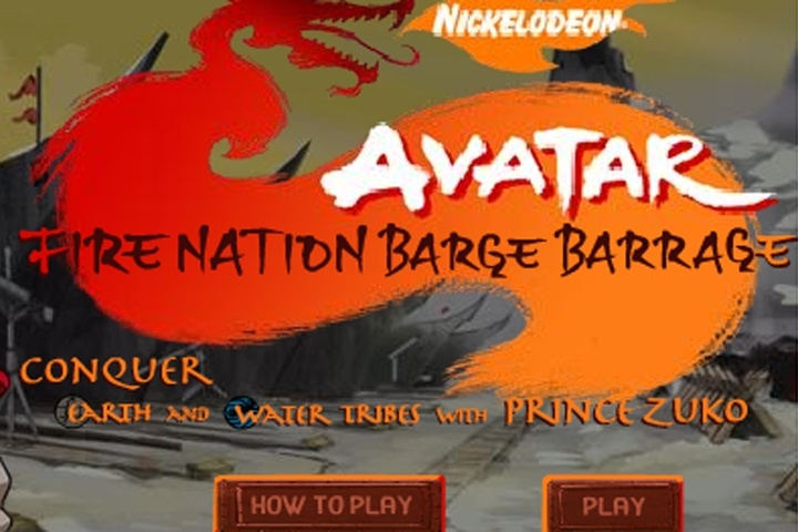 Avatar Fire Nation Barge Barrage Game