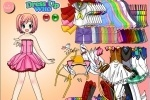Anime Girl Ink Dress Up game free online