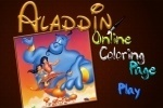 Aladdin Online Coloring Page game free online