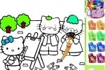 Hello Kitty Painting game free online