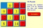 play 15 Puzzle game free online