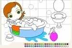 Bubble Bath Coloring game free online