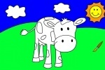 Blue Cow Coloring Book game free online
