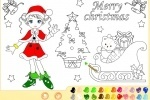 Christmas Girl Painting game free online
