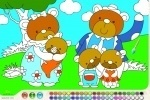 Bear Family Coloring game free online