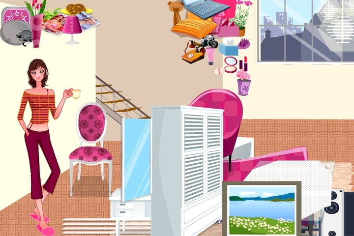 Free dress up room decor games