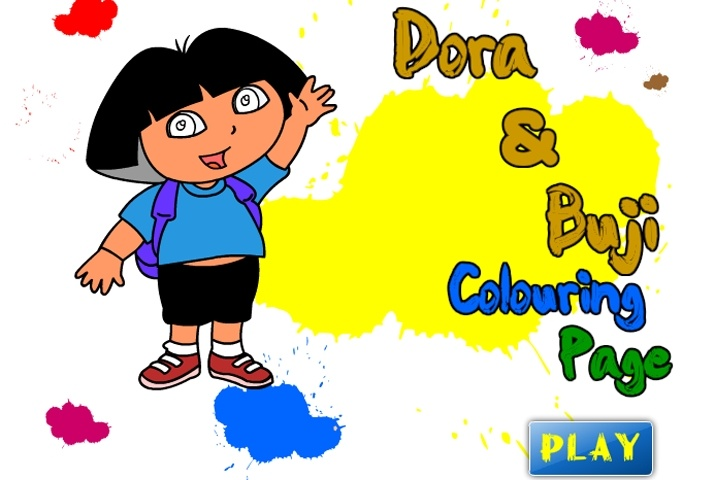 Dora The Explorer Buji Coloring Page Game  Dora The Explorer