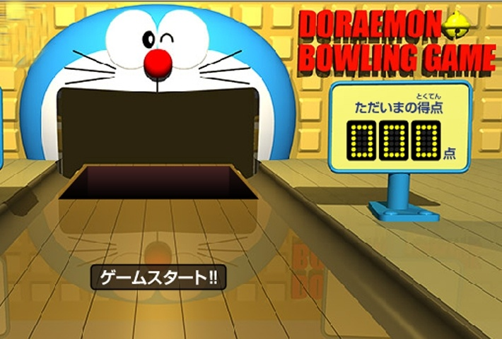 Doraemon bowling game bowling games games loon for Doraemon new games
