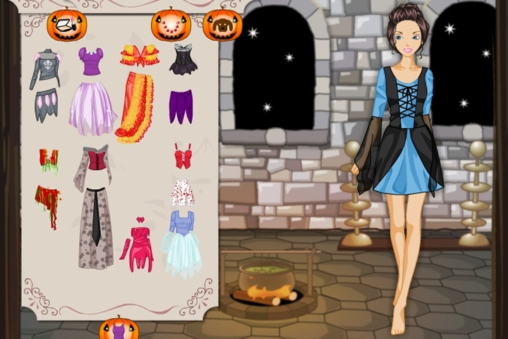 barbie in halloween dress up game - Free Halloween Dress Up Games