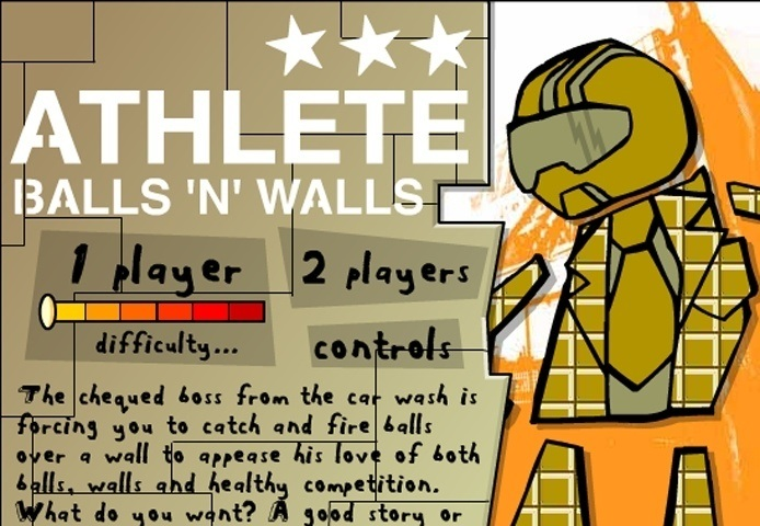 Athlete Balls And Walls Game