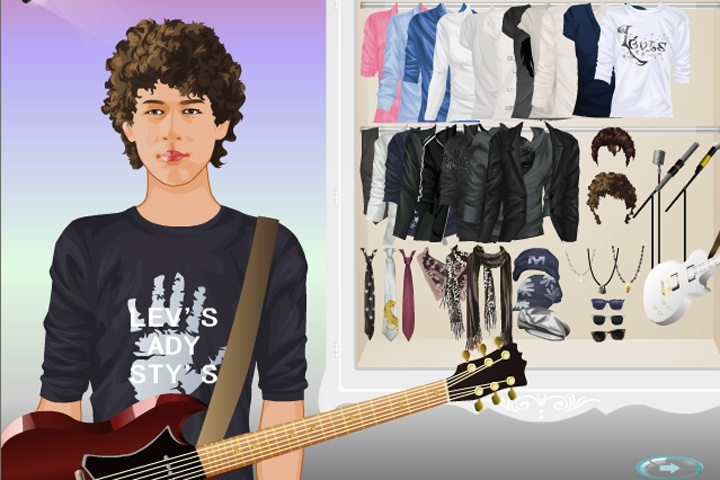 Celebrity dress up games jonas brothers