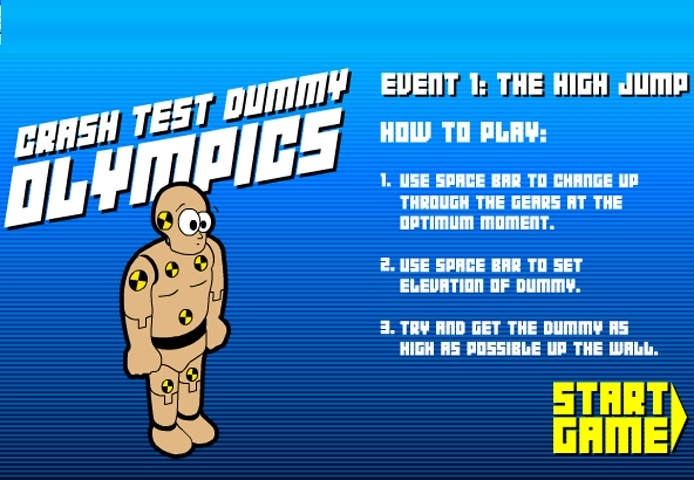 Crash Test Olympics Game
