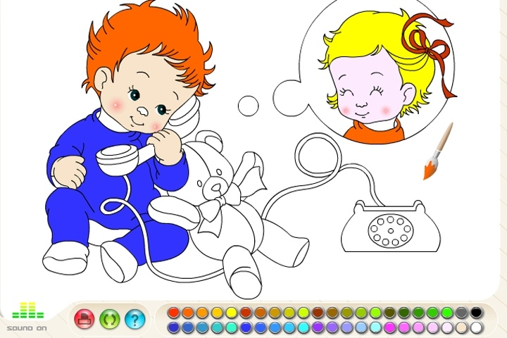 Baby Coloring Game - Coloring games - Games Loon