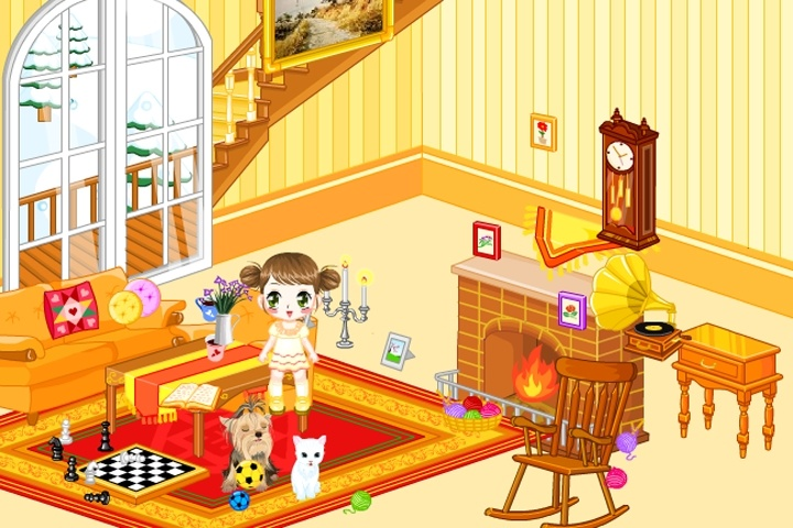 Doll House Living Room Decorations Game Decorating Games Games Loon