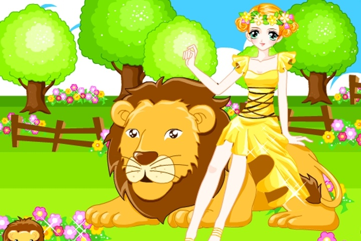 Madeline And The Lion Dress Up Game Play Free Animal Dress Up Games Games Loon